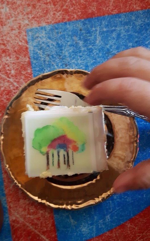 Kleurenbos taartje